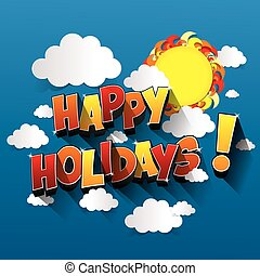 Happy Holidays greeting card design vector illustration