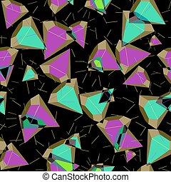 cartoon diamond seamless pattern