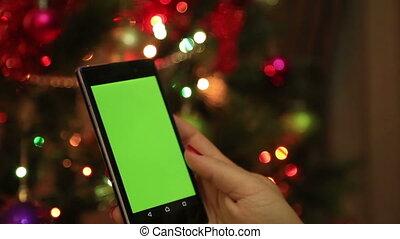Green screen mobile smart phone
