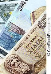 notas, dracma,  Euro