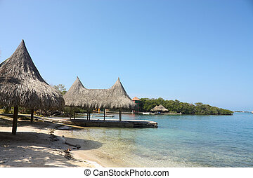 el, ROSARIO, islas, Caribe, coral, arrecife, Colombia