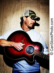 Texas Country Musician - Portrait of a Texas Country and...