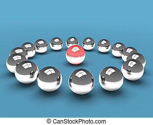 3d balls teammeeting concept