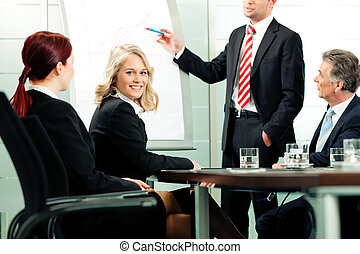 Business - presentation in team meeting - Business -...