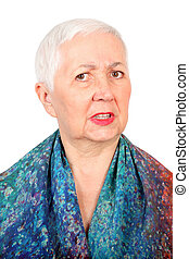 Angry Senior Woman Portrait