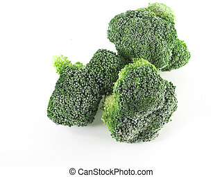 Broccoli - Image of green broccoli isolated close-up, nature...