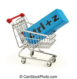 "Eraser with combination ""ctrl+z"" in the shopping cart - Blue..."