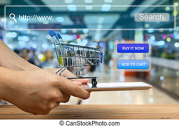 shopping cart use for add to cart or buy it now.