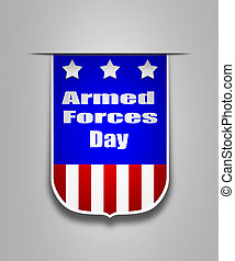 Ribbon on the american Armed Forces day - Hanging ribbon on...