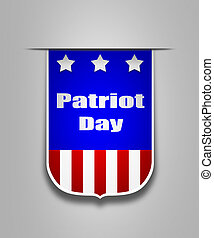 Ribbon on the american Patriot day - Hanging ribbon on the...