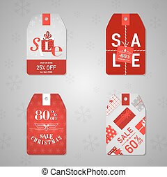 Christmas Sale Labels and Tags - in vector