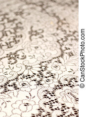 White Lace Table Cloth Background