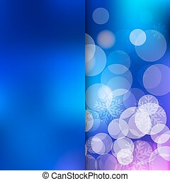 Christmas blue Background - Christmas and New Year holidays...