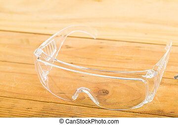 Safety glasses for protection your working area.