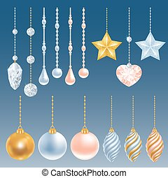 Christmas decorations set - Set of different christmas...