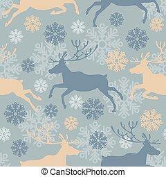 Christmas deers seamless pattern