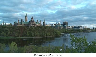Parliament of Canada - Pan to the Parliament of Canada in...