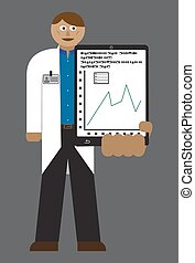 Doctor With Tablet Chart - A doctor with a tablet and chart...