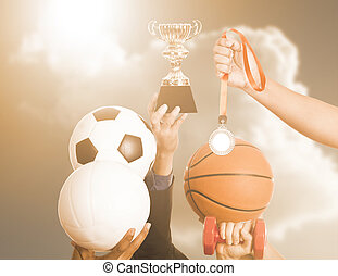 Sport trophy - Trophy and equipment item sport for success...