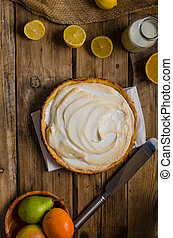 Lemon cheesecake delicious - Lemon cheesecake, very simple...