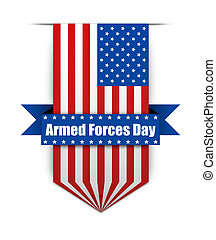 Color flag on the Armed Forces day - Hanging ribbon on the...