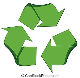 Recycle Vector Symbol Isolated