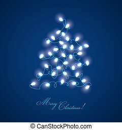 Christmas Tree Lights - for design and scrapbook - in vector