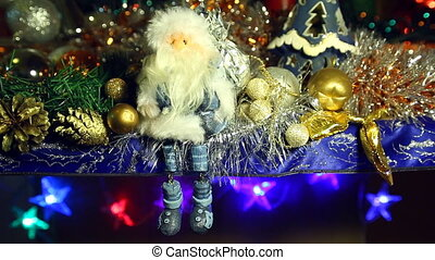 Santa Claus shakes his legs in blue - Santa Claus shakes his...