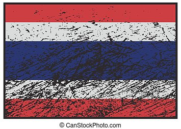 Thailand Flag Grunged