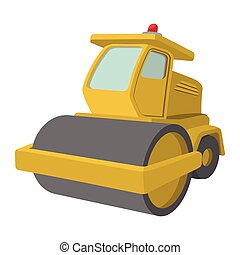 Yellow paver cartoon illustration