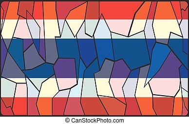 Thailand Stained Glass Window - A Thailand flag design...