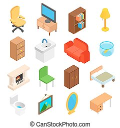 Furniture for living room isometric - Furniture for living...