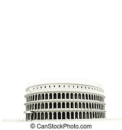 colosseum isolated on white background