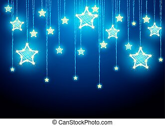 Hanging Christmas star decorations - Hanging Christmas...