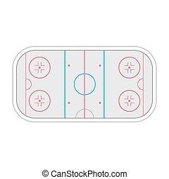 Field ice hockey, vector