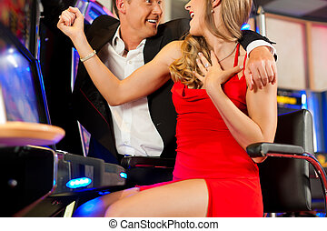 Couple in Casino