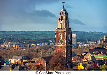 St. Anne's Church in Shandon, Cork - Aerial view of St....