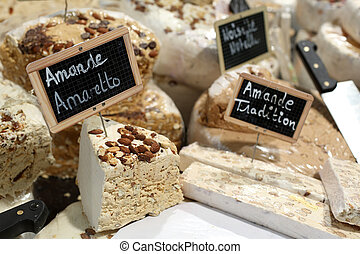 French nougat - Details of several varieties of french...