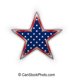 Star in national american colors. - Star in national flag...