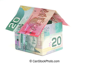 Canadian House - House made of Canadian money