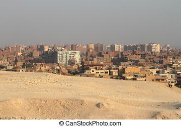 den, horisont, av, Kairo, In, egypten,