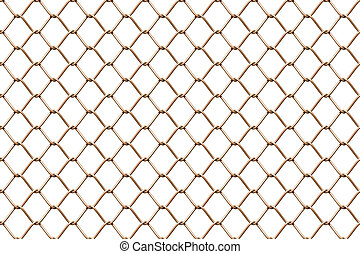 Seamless mesh netting on white background Seamless chain...
