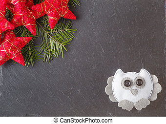 Place to write christmas wishes - Winter greeting card...