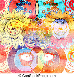 colorful abstract background - Bright abstract background...