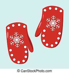 Pair of red mittens.eps