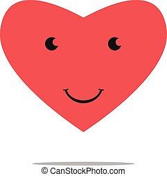 personagem,  EPS, Coração, sorrindo