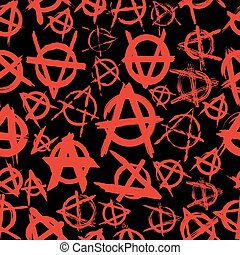 anarchy - seamless pattern with signs of anarchy