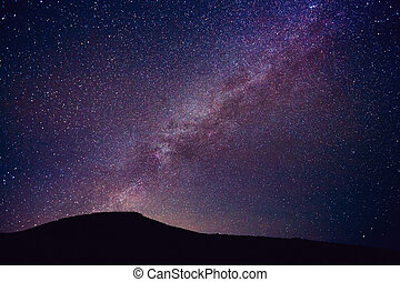 Night Sky with Stars and Galaxy - Stars in the Night Sky,...