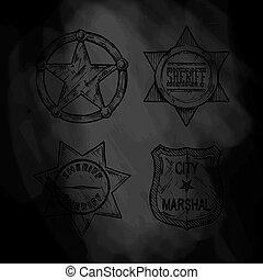 Sheriff stars.