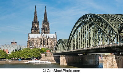 Cologne Cathedral Time Lapse - Time Lapse Sequence of...